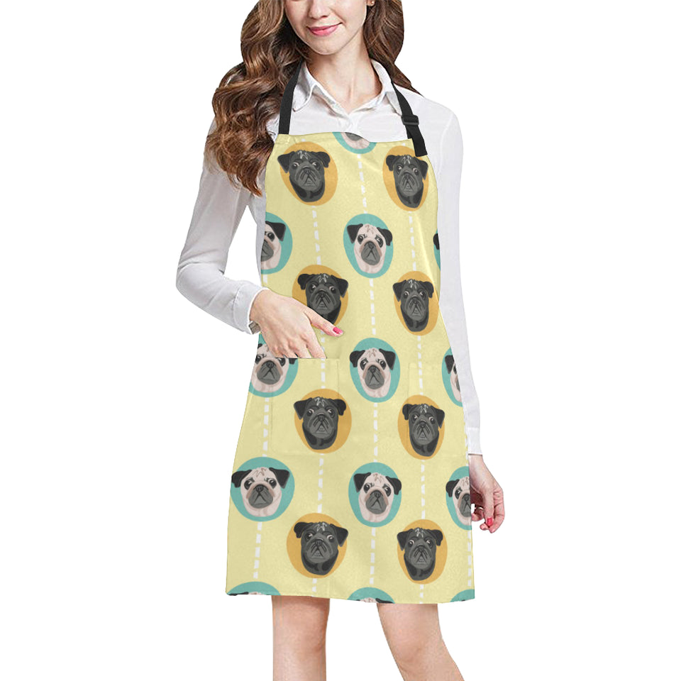 Pug Head Pattern Adjustable Apron