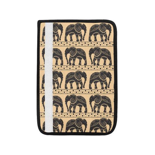 Elephant Pattern Ethnic Motifs Car Seat Belt Cover