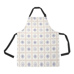 Nautical Steering Wheel Rudder Compass Pattern Adjustable Apron