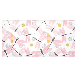 Pink Dragonfly Pattern Tablecloth