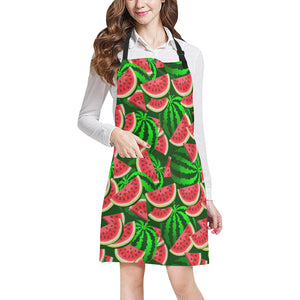 Watermelon Pattern Theme Adjustable Apron
