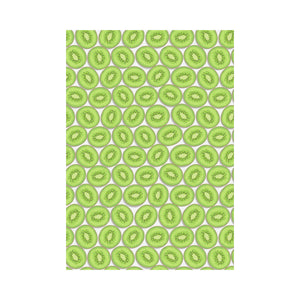 Sliced Kiwi Pattern Background House Flag Garden Flag