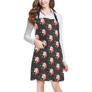 Unicorn Star Pattern Adjustable Apron