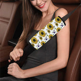 Sunflower Pattern Background Car Seat Belt Cover