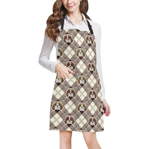 Beagle with Sunglass Pattern Adjustable Apron