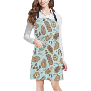 Hand Drawn Cocoa Pattern Adjustable Apron