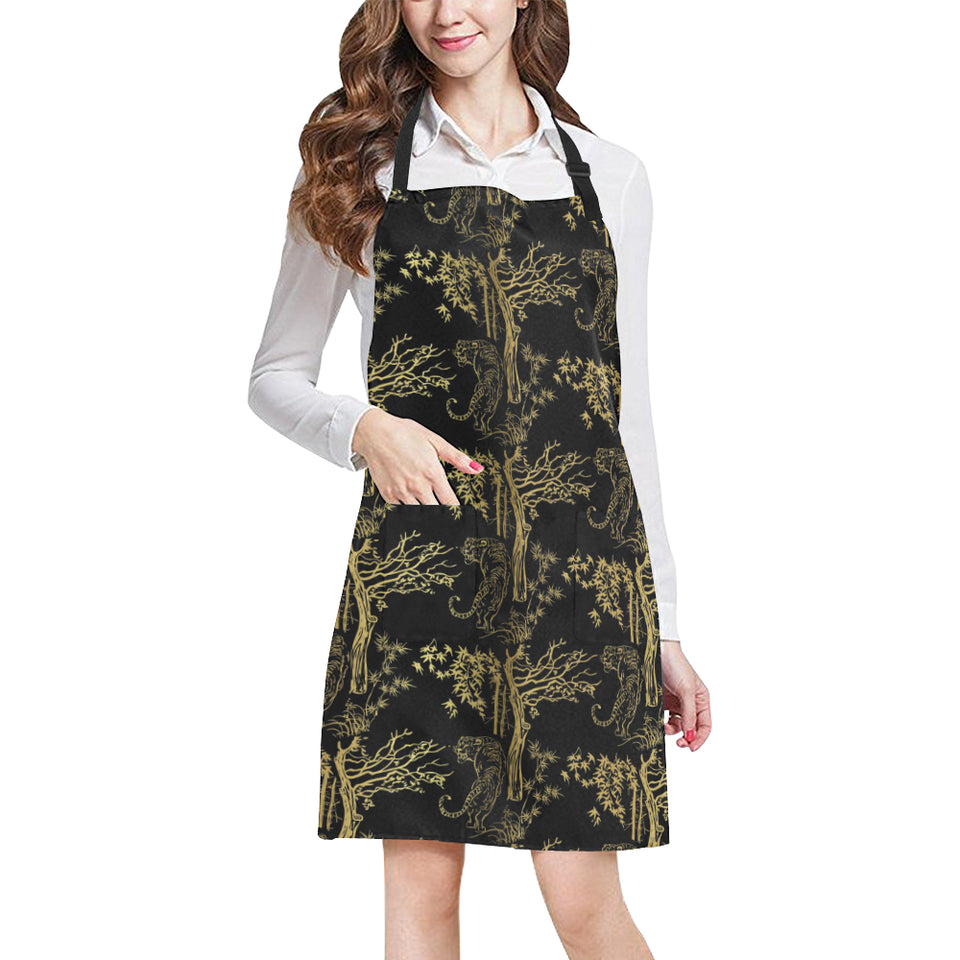Bengal Tiger and Tree Pattern Adjustable Apron