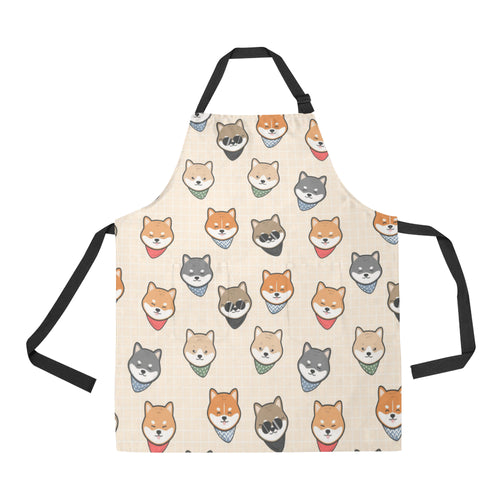 Shiba Inu Head Pattern Adjustable Apron