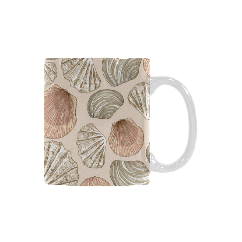 Shell Pattern Background Classical White Mug (FulFilled In US)