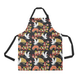 Japanese Crane Pattern Adjustable Apron