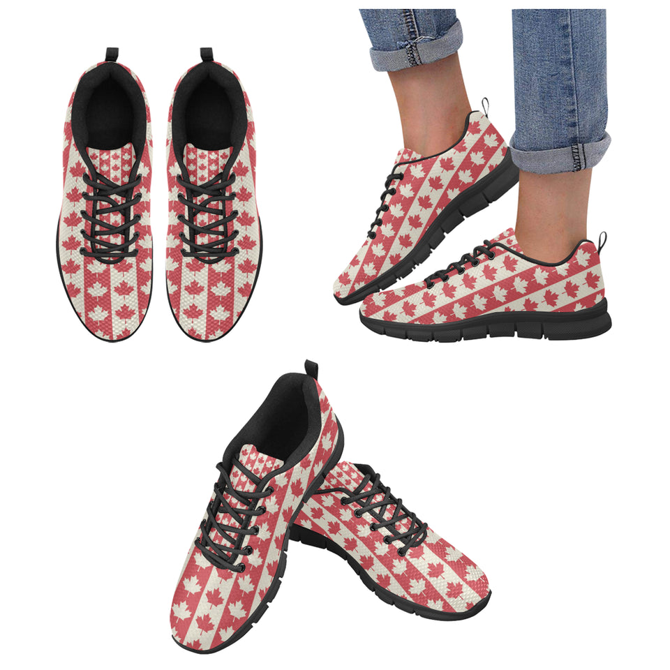 Canada Pattern Print Design 03 Women's Sneakers Black