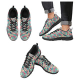 Tennis Pattern Print Design 01 Men's Sneakers Black