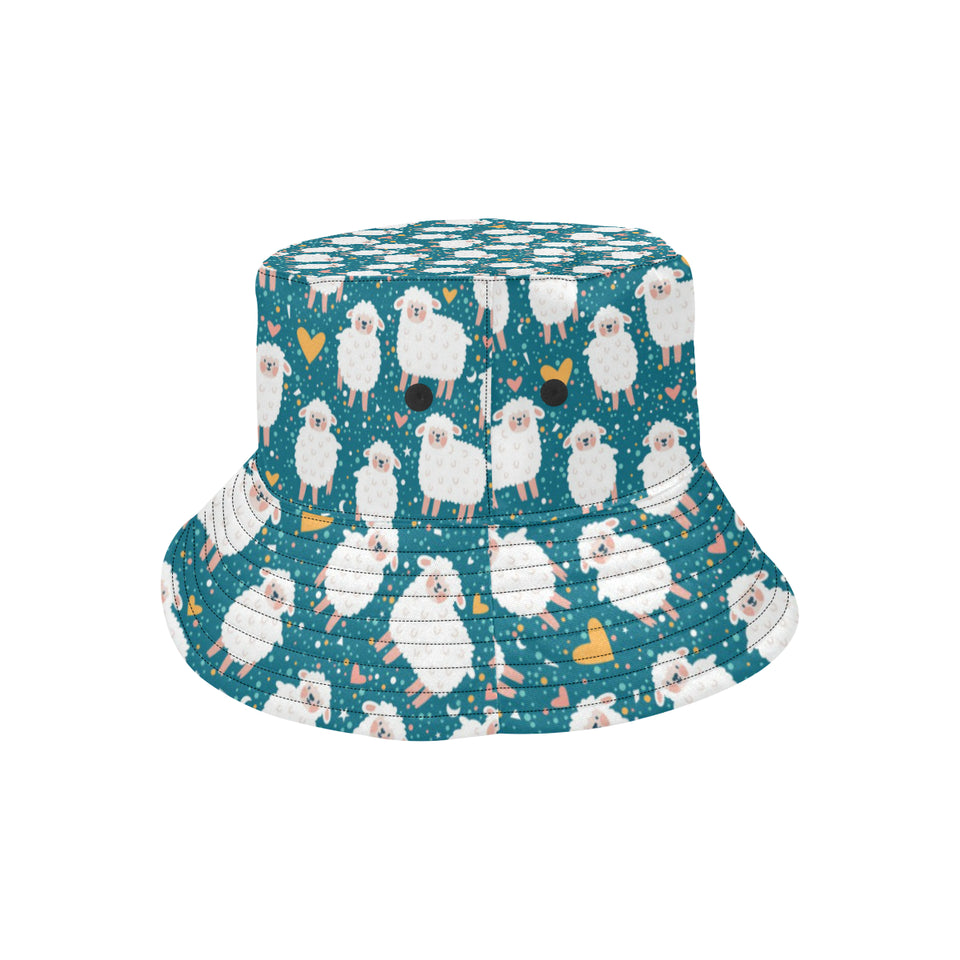 Sheep Heart Pattern Unisex Bucket Hat