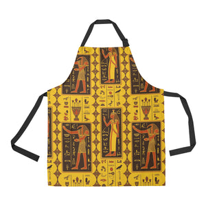 Egypt Hieroglyphics Pattern Print Design 01 Adjustable Apron