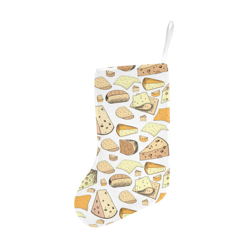 Cheese Pattern Theme Christmas Stocking