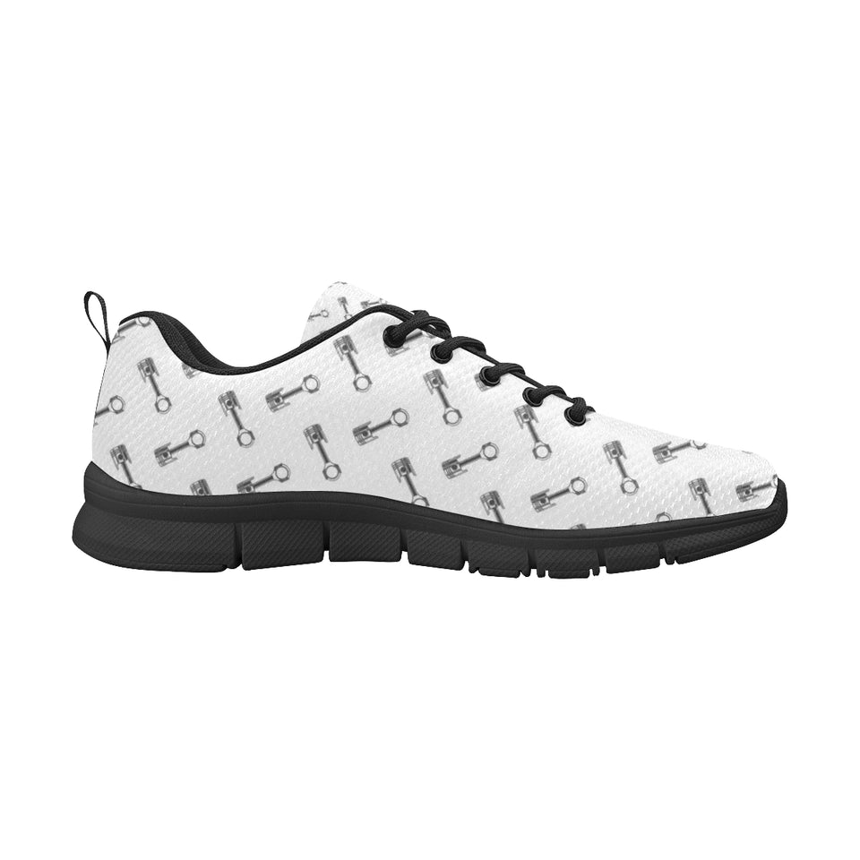Engine Piston Pattern Print Design 02 Women's Sneakers Black