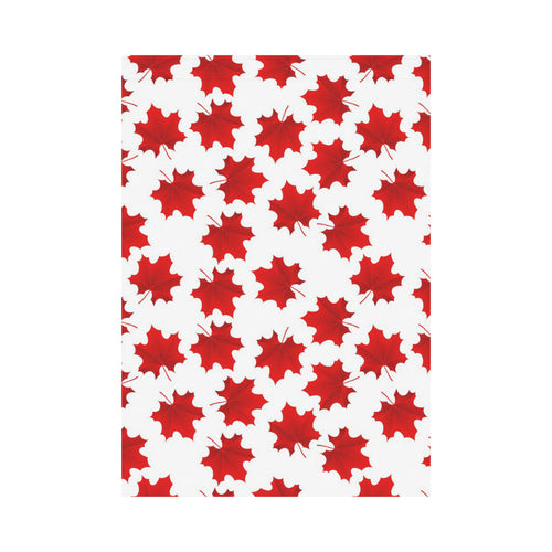 Red Maple Leaves Pattern House Flag Garden Flag