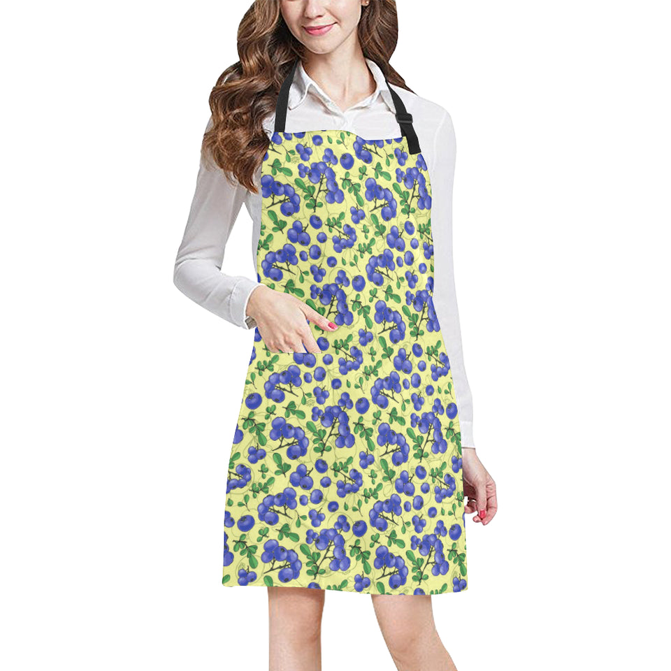 Blueberry Leaves Pattern Adjustable Apron