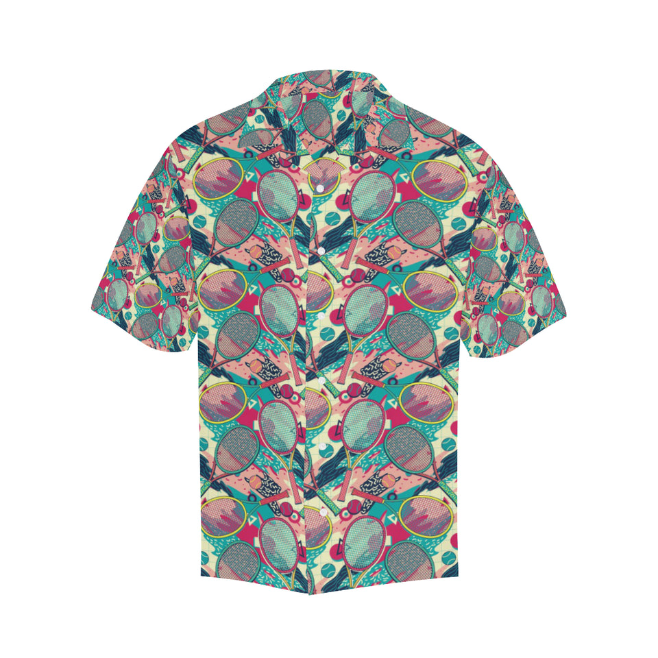 Tennis Pattern Print Design 01 Men's All Over Print Hawaiian Shirt (Model T58)