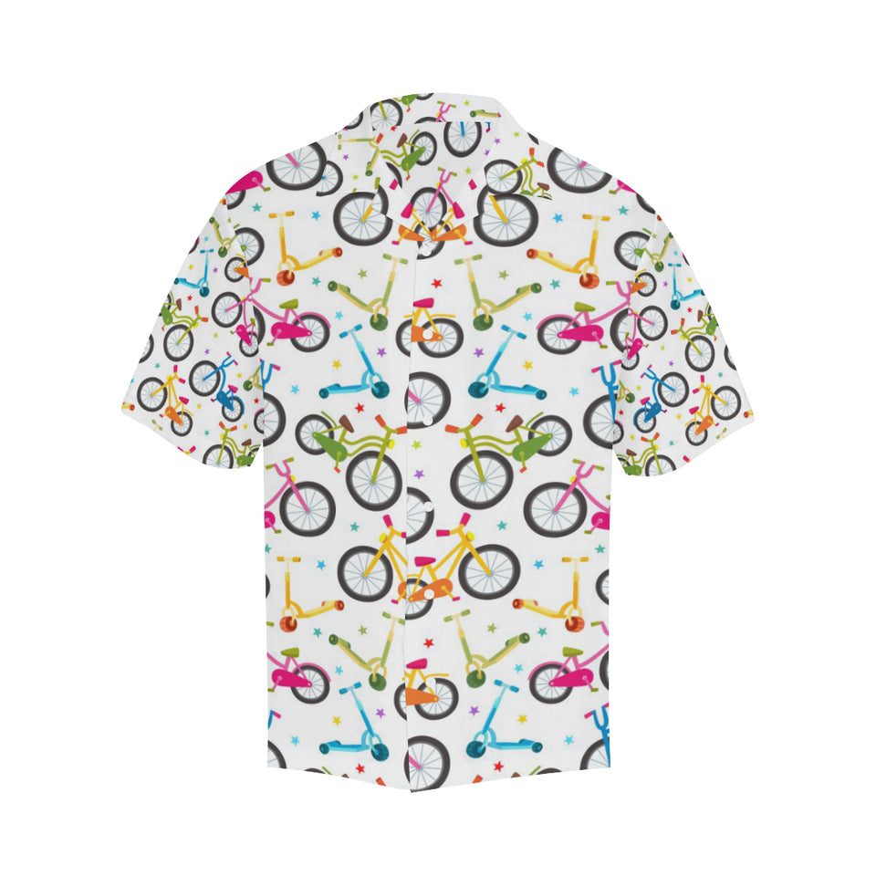 Bicycle Pattern Print Design 02 Men's All Over Print Hawaiian Shirt (Model T58)