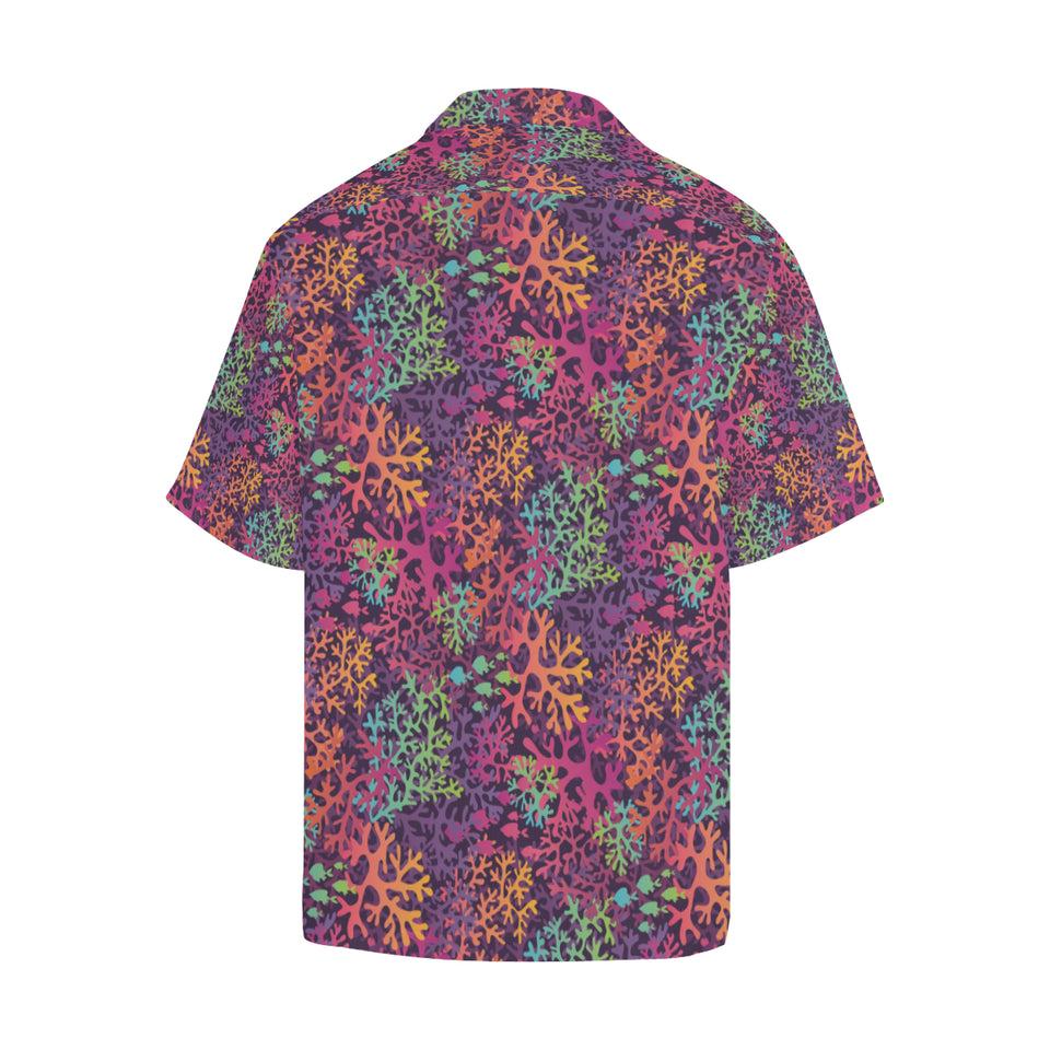 Coral Reef Pattern Print Design 03 Men's All Over Print Hawaiian Shirt (Model T58)