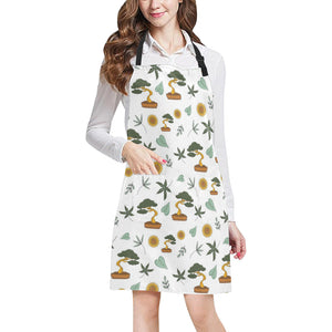 Bonsai Leaves Flower Pattern Adjustable Apron