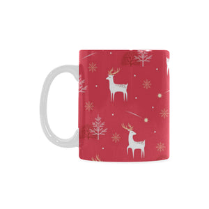 Deer Pattern Background Classical White Mug (FulFilled In US)