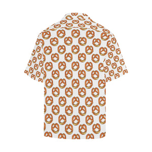 Pretzels Pattern Print Design 03 Men's All Over Print Hawaiian Shirt (Model T58)