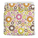 Colorful Donut Pattern Bedding Set