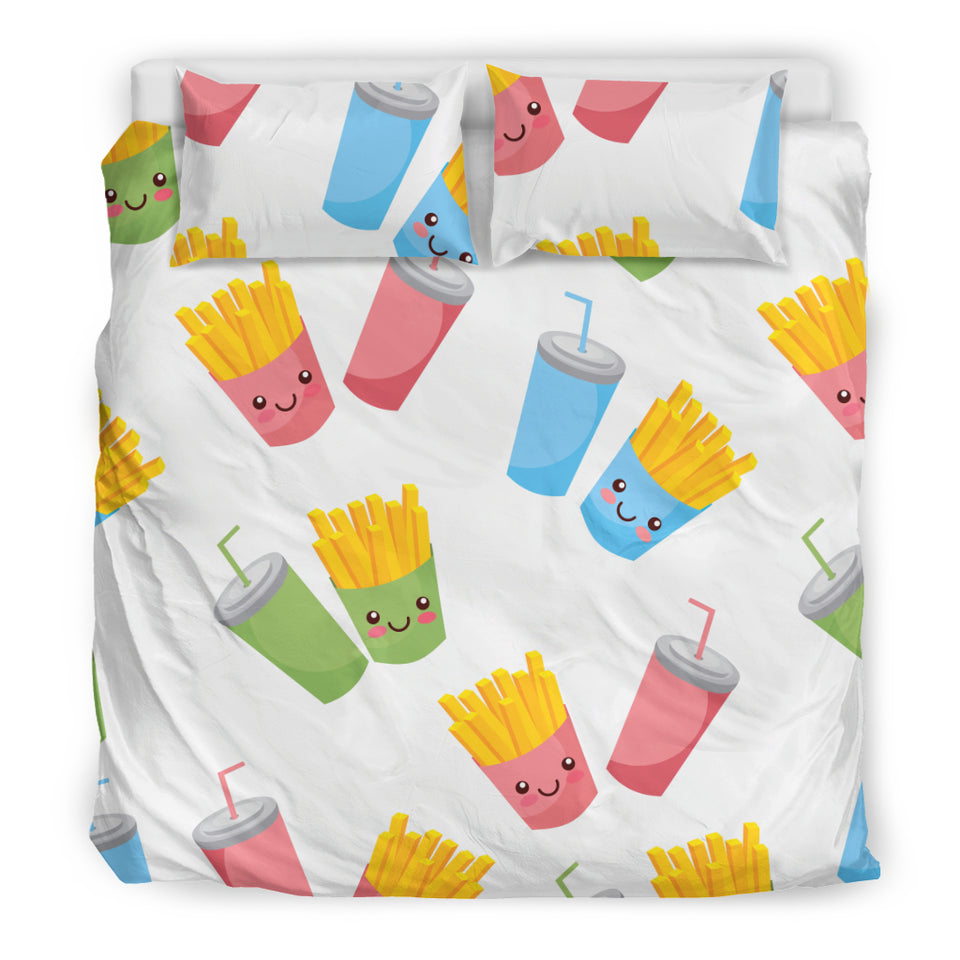 Colorful French Fries Pattern Bedding Set