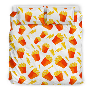 French Fries Pattern Bedding Set