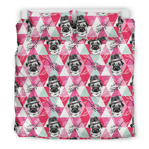 Pug Pattern Bedding Set