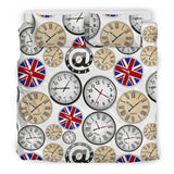 Wall Clock UK Pattern Bedding Set