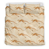 Kangaroo Aboriginal Pattern Background Bedding Set