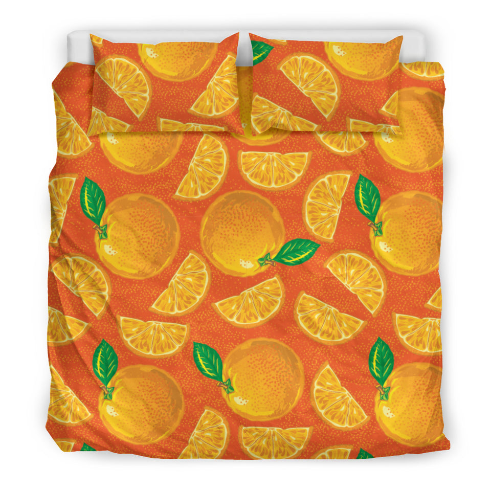 Orange Pattern background Bedding Set