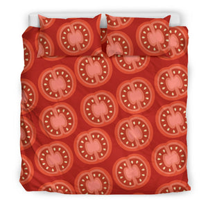 Sliced Tomato Pattern Bedding Set