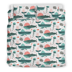 Whale Jelly Fish Pattern  Bedding Set
