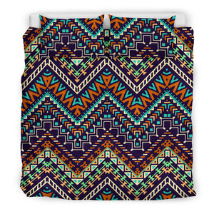 Zigzag African Afro Dashiki Adinkra Kente Bedding Set