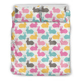 Colorful Rabbit Pattern Bedding Set