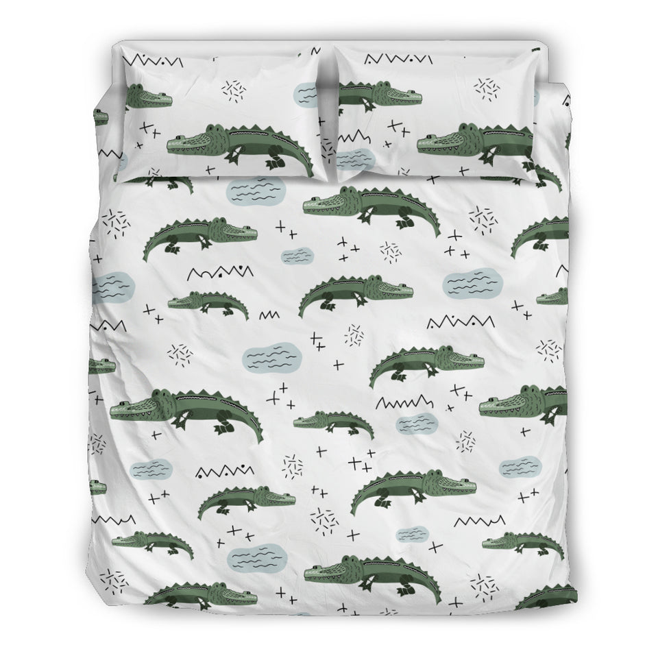 Crocodile Pattern Background Bedding Set