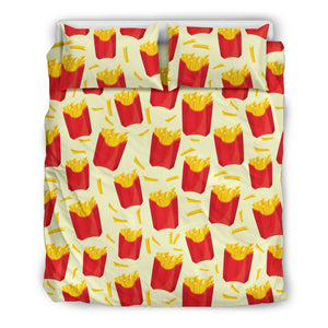 French Fries Pattern Theme Bedding Set
