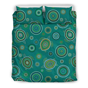 Sea Turtle Aboriginal Pattern Bedding Set
