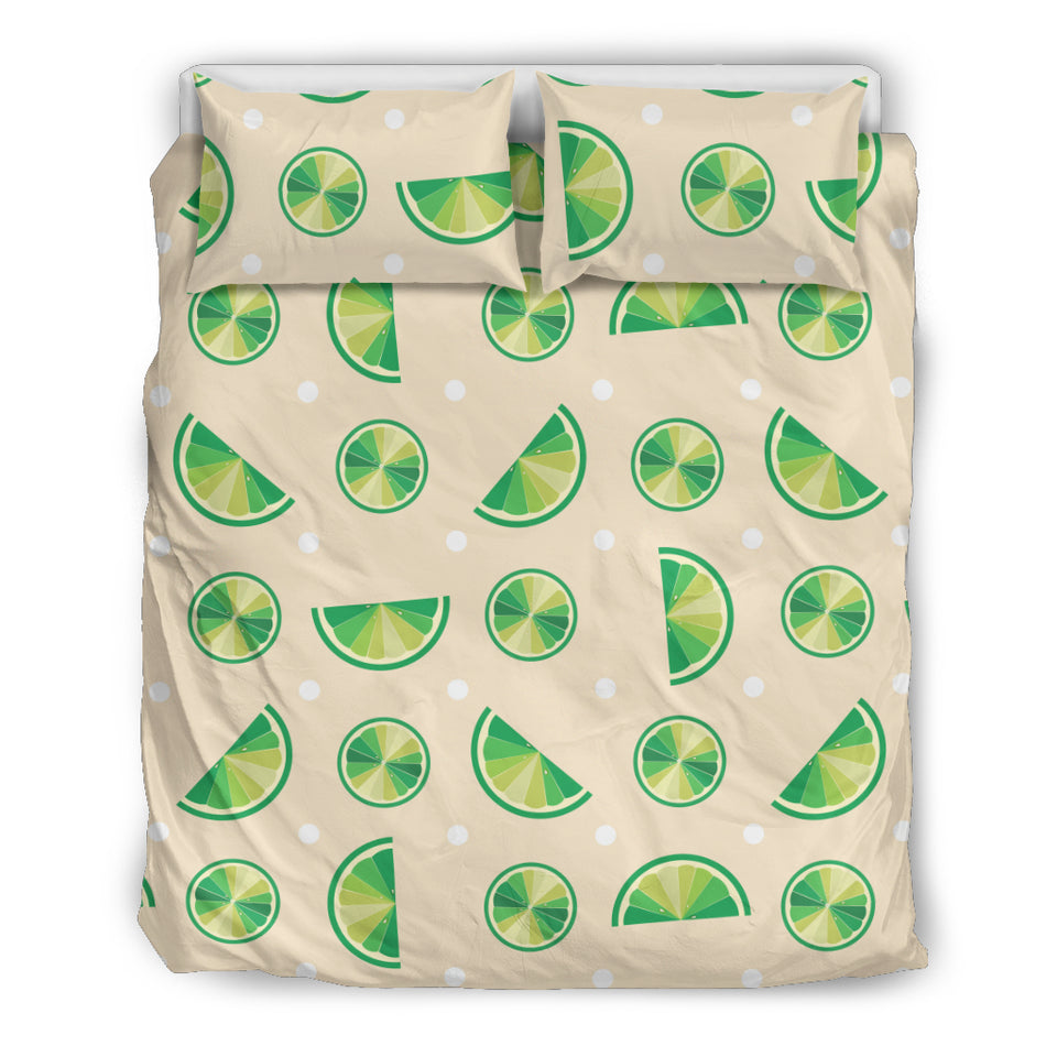 Lime Pattern Bedding Set