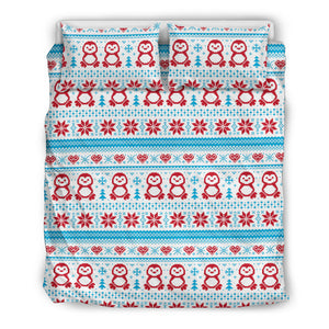 Penguin Sweater Printed Pattern Bedding Set