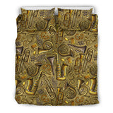 Saxophone Gold Pattern Bedding Set