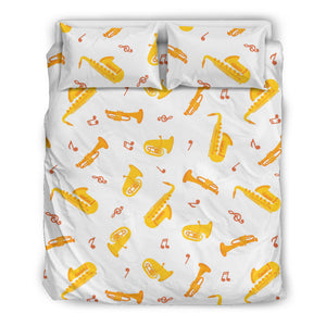 Saxophone Pattern Theme Bedding Set