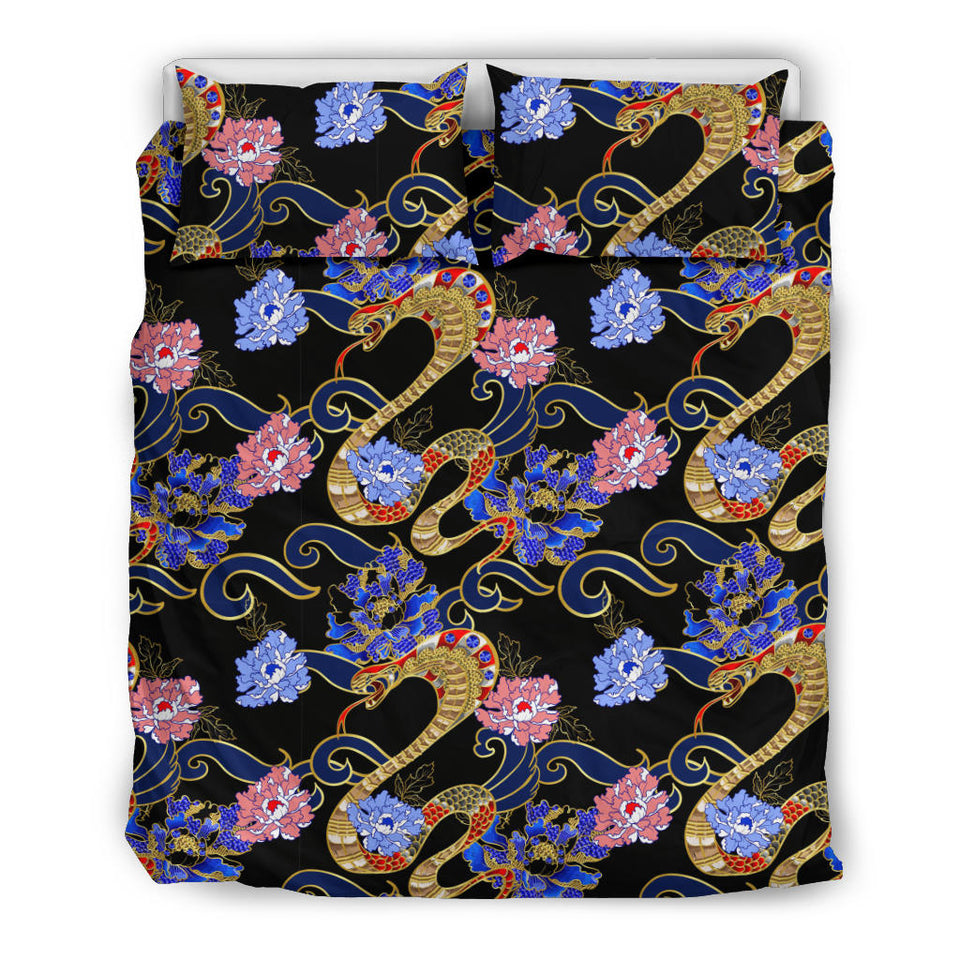 Snake Flower Pattern Bedding Set