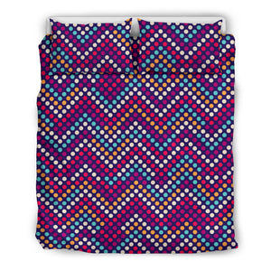 Zigzag Chevron Pokka Dot Aboriginal Pattern Bedding Set