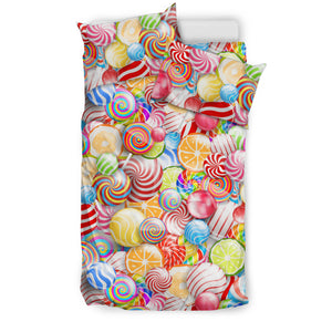 Candy Lollipop Pattern Bedding Set