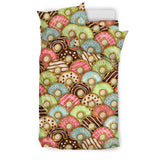 Donut Pattern Background Bedding Set